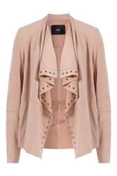 Steffen Schraut Draped Suede Jacket Rose