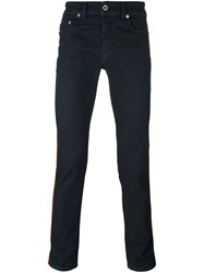 Diesel Black Gold Lateral Striped Skinny Jeans Blue