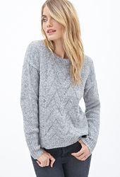 Forever 21 Chevron Knit Crewneck Sweater