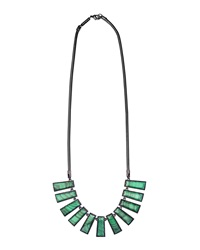 Kendra Scott Angelina Green Malachite Bib Necklace