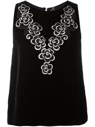 Antonio Marras Floral Print Vest Black