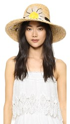 Kate Spade Embroidered Daisy Sunhat Fresh White
