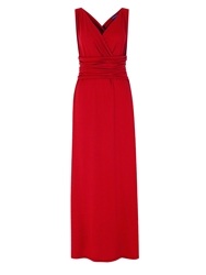 Hotsquash V Neck Maxi Dress In Coolfresh Fabric Red