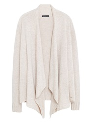 Violeta By Mango Waterfall Front Wool Blend Cardigan Natural White