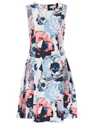 Havren Rosie Fit And Flare Dress Multi Coloured
