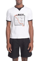 Men's J.W.Anderson 'News' Graphic Ringer T Shirt