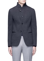 Armani Collezioni Diamond Quilted Soft Blazer Grey