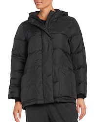Eileen Fisher Solid Quilted Coat Black