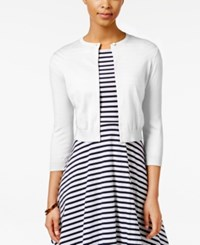American Living Open Front Cardigan Only At Macy's White