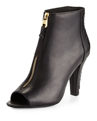 Elliott Lucca Antonia Woven Zip Up Bootie Black