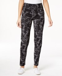Styleandco. Style And Co. Sport Marble Print Tummy Control Pants Only At Macy's
