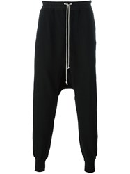 Rick Owens Drkshdw Drop Crotch Track Pants Black