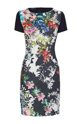 James Lakeland Floral Silhouette Print Dress Multi Coloured