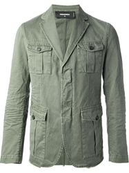 Dsquared2 Military Style Jacket Green