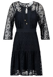 Closet Summer Dress Navy Dark Blue