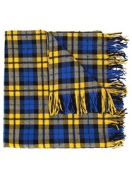 Faith Connexion Small Checked Scarf Blue