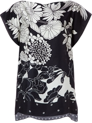 Pierre Louis Mascia Pierre Louis Mascia Printed Oversized Top Black