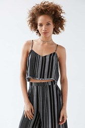 Silence And Noise Silence Noise Yarn Dye Stripe Set Cami Black Multi