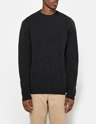 Norse Projects Sigfred Lambswool Sweater Charcoal
