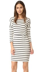 Cupcakes And Cashmere Everest Knit Stripe Dress Ivory