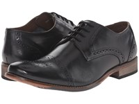 Lotus Hargreaves Black Leather Men's Lace Up Wing Tip Shoes