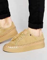 Religion Suede Mocassin Trainers Tan