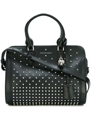 Alexander Mcqueen Small Padlock Studded Tote Black