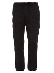 Valentino Cargo Cotton Trousers Black