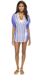 Milly Ombre Anguilla Embroidered Cover Up Royal