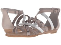 Blowfish Blaw Mushroom Silver Dyecut Pewter Greasy Metallic Pu Women's Sandals