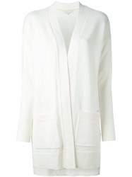 Michael Michael Kors Long Pocket Cardigan Nude And Neutrals
