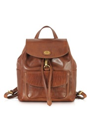 The Bridge Story Donna Marrone Leather Backpack Dark Brown