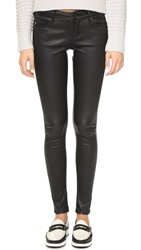 Ag Jeans Skinny Leather Pants Super Black