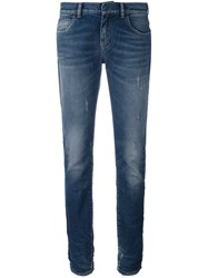 Faith Connexion Stonewash Effect Skinny Jeans Blue