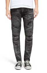 Rock Revival Men's Moto Skinny Fit Jeans