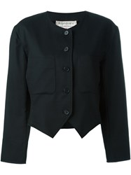 Yves Saint Laurent Vintage Boxy Crop Jacket Black