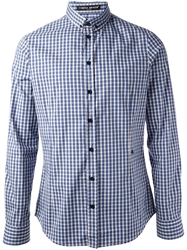 Frankie Morello Checked Shirt Blue