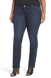 Lucky Brand Plus Size Women's 'Ginger' Stretch Straight Leg Jeans Serpantine