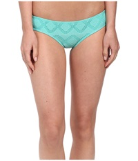 Roxy Lacy Days Cheeky Scooter Swim Bottom Crochet Waterfall Women's Swimwear Green