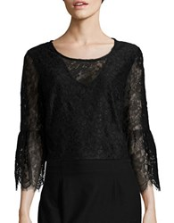 Marina Bell Sleeved Lace Top Black