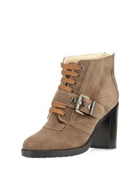 Aquatalia By Marvin K Aquatalia Brooke Faux Fur Lined Ankle Boot Taupe Brown Size 40.0B 10.0B