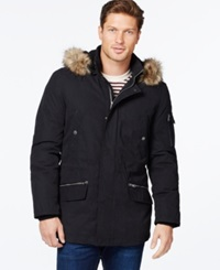 Nautica Parka With Removable Faux Fur Hood Black
