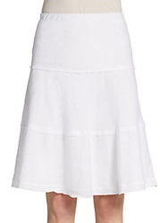 Saks Fifth Avenue Blue Tiered Linen Skirt Simply White