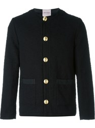 Palm Angels Fitted Sweater Jacket Black
