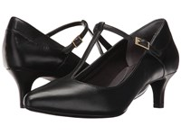 Rockport Total Motion Kalila T Strap Black Leather Women's Shoes