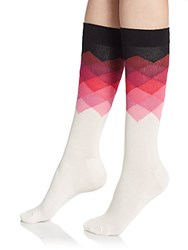 Happy Socks Ombre Diamond Socks Ivory