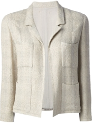 Chanel Vintage Jacket And Skirt Tweed Suit Nude And Neutrals