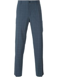 Dolce And Gabbana Checked Trousers Grey