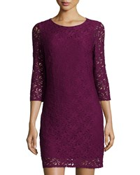 Laundry By Shelli Segal 3 4 Sleeve Lace Dress Dark Boyse