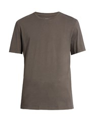 Maison Martin Margiela Crew Neck Cotton Jersey T Shirt Grey
